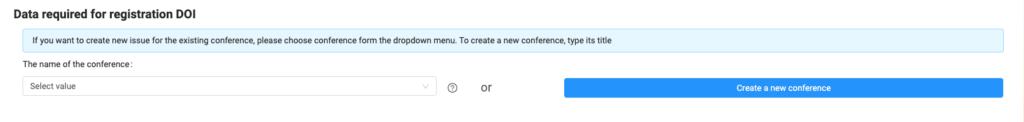 Crear una nueva conferencia o elegir una de antes