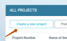 Create a new project button